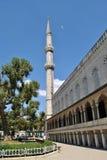 błękitny minaretowy meczet istanbul Obraz Stock
