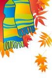 błękitny modny szalik Zdjęcia Royalty Free