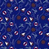 Błękitny morski bezszwowy wzór Fotografia Royalty Free