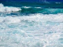 Błękitny morze Cypr Obrazy Royalty Free