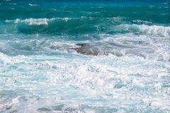Błękitny morze Cypr Obrazy Stock