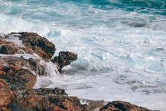 Błękitny morze Cypr Zdjęcia Royalty Free