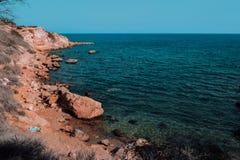 Błękitny morze Cypr Zdjęcia Stock