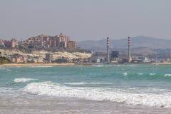 Błękitny morze na słonecznym dniu Zdjęcia Stock