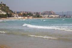 Błękitny morze na słonecznym dniu Zdjęcie Stock