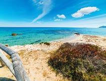 Błękitny morze w Scoglio Di Peppino brzeg Zdjęcia Royalty Free