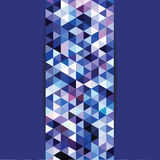Błękitny mozaika trójboków tło Obrazy Royalty Free