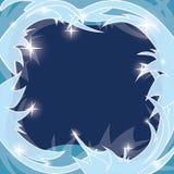 Błękitny mroźny tło - zimy rama ilustracji
