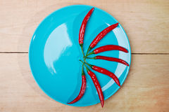 Błękitny naczynie z pappers Obrazy Royalty Free