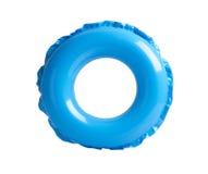 Błękitny nadmuchiwany okrąg fotografia stock