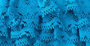 Błękitny napuszony faborku zakończenia widok Fotografia Stock