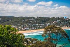 Błękitny nawadnia Avoca plaża Zdjęcia Stock