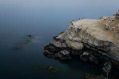 Błękitny nawadnia wzdłuż losu angeles Jolla coastling Zdjęcie Stock