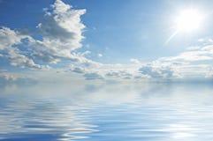 błękitny nawierzchniowa woda Zdjęcie Royalty Free