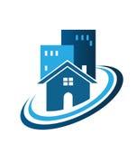 Błękitny nieruchomość dom royalty ilustracja