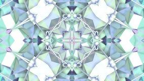 Błękitny niski poli- geometryczny abstrakcjonistyczny tło jako poruszający kalejdoskop w 4k lub witraż Pętli 3d animacja, bezszwo zdjęcie wideo