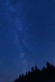 Błękitny nocne niebo z gwiazdami i widocznym Milky sposobem Obrazy Royalty Free