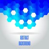 Błękitny nowożytny geometrical abstrakcjonistyczny tło zdjęcia stock