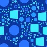Błękitny nowożytny geometrical abstrakcjonistyczny tło z okręgiem i kwadratem Obraz Royalty Free