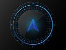 Błękitny nowożytny kompas Zdjęcia Stock