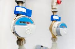 Błękitny nowożytny radio wody kontuaru metr Obrazy Stock
