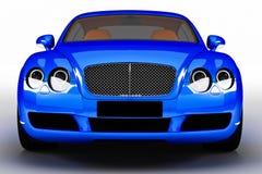 Błękitny nowożytny samochód Ilustracji