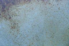 Błękitny ośniedziały żelazo Ukazuje się metal z rdzą fotografia stock