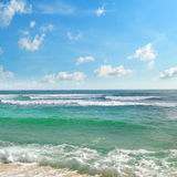 błękitny ocean niebo Obrazy Stock