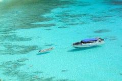 Błękitny ocean przy Similan wyspą Tajlandia Obraz Stock