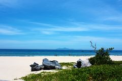 Błękitny ocean przy Vietnam Obrazy Stock
