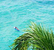 błękitny oceanu surfingowa fala Zdjęcia Stock