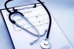 błękitny odcień stetoskopu zdjęcia stock