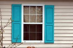 Błękitny okno Zdjęcia Stock