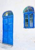 Błękitny okno & drzwi Zdjęcie Stock