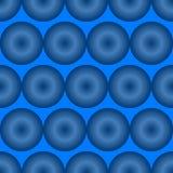 Błękitny okulistycznego złudzenia wzór Obrazy Royalty Free