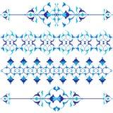 Błękitny orientalny ornament siedemnaście i Ilustracji