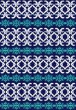 błękitny ornamentacyjny bezszwowy Obraz Stock