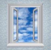 błękitny otwarte niebo okno Obraz Stock