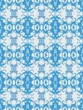 błękitny ozdobna bezszwowa tapeta Obraz Royalty Free