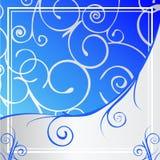 Błękitny Ozdobny Tło Obrazy Royalty Free