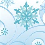 błękitny płatek śniegu ilustracji
