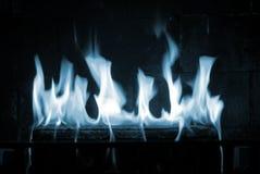 błękitny płomienie Obrazy Stock