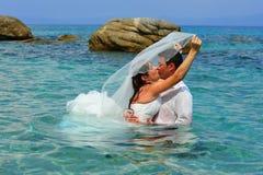 błękitny panny młodej jasnego fornala całowania woda morska Zdjęcie Royalty Free