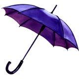 Błękitny parasol na białym tle Fotografia Stock