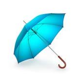 Błękitny parasol odizolowywający na białym tle ilustracja 3 d ilustracji