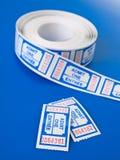 błękitny pary techno bilety zdjęcia stock
