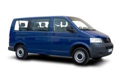 błękitny pasażerski samochód dostawczy Zdjęcia Stock