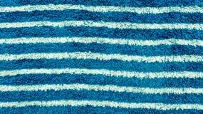 błękitny pasiasty ręcznikowy biel Zdjęcia Royalty Free