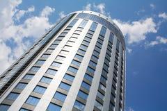 błękitny perspektywiczny drapacz chmur Fotografia Royalty Free