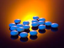 błękitny pigułki Zdjęcie Stock